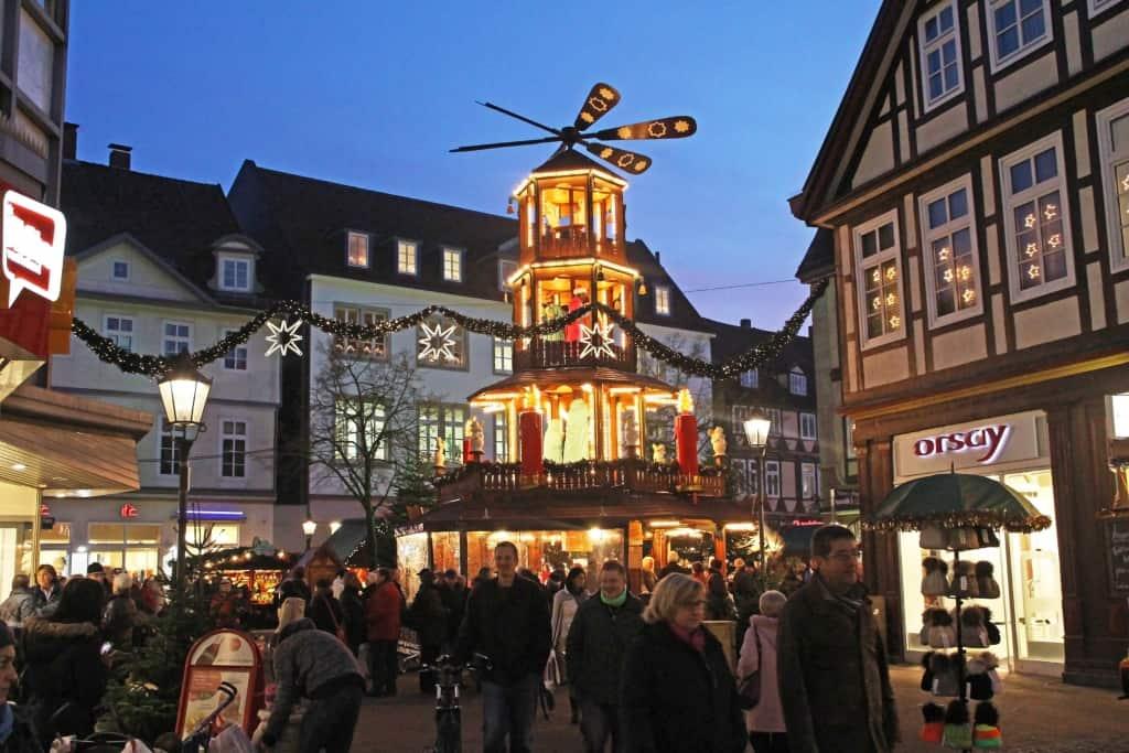 Die beliebte Weihnachtspyramide (Copyright: Celle Tourismus und Marketing GmbH)
