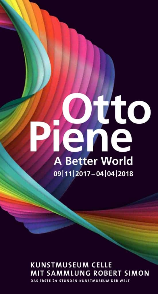 "Cover des Flyers zur Ausstellung ""Otto Piene. A Bette World"" im Kunstmuseum Celle 09.11.2017 - 04.04.2018"