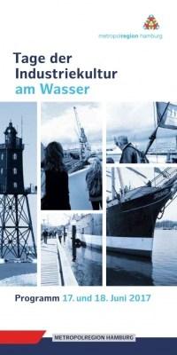 """Cover des Flyers """"Tage der Industriekultur am Wasser 2017"""""""