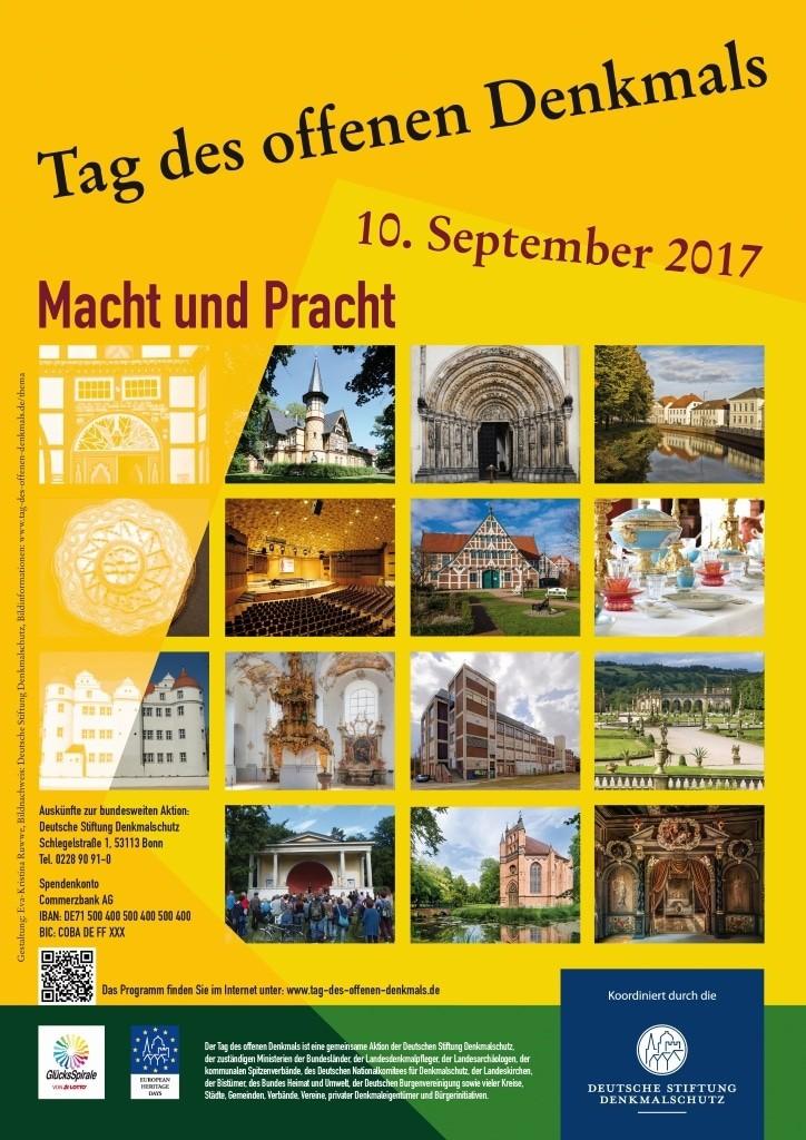 Das diesjährige Plakat zum Tag des offenen Denkmals Bild: Deutsche Stiftung Denkmalschutz