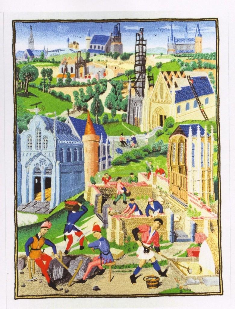 Kirchenbau - Stickereibild von Markus Duschek