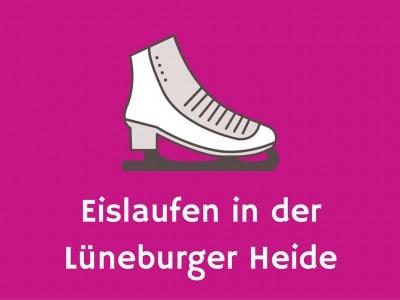 zeichnung schlittschuh mit text eislaufen in der lüneburger heide