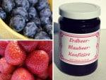 Erdbeer-Blaubeer-Konfitüre