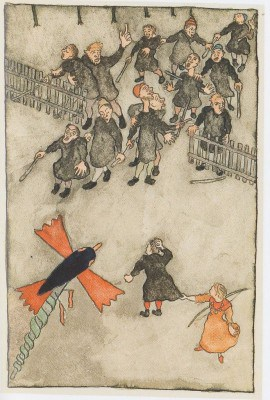 Erich Klahn - Illustration zu Ulenspiegel von Charles de Coster: Ulenspiegel foppt die Blinden - Foto: Bomann-Museum Celle