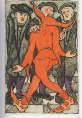 Erich Klahn - Illustration zu Ulenspiegel von Charles de Coster: Ulenspiegel vor dem Markgrafen ua Foto: Bomann-Museum Celle