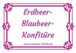 Kostenlose Etiketten für Erdbeer-Blaubeer-Konfitüre - ein Service von www.schoene-heide.de