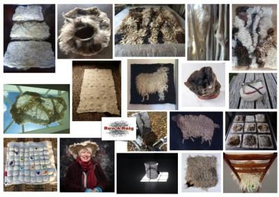 Übersicht Filzkunstwerke von Lidwina Charpentier