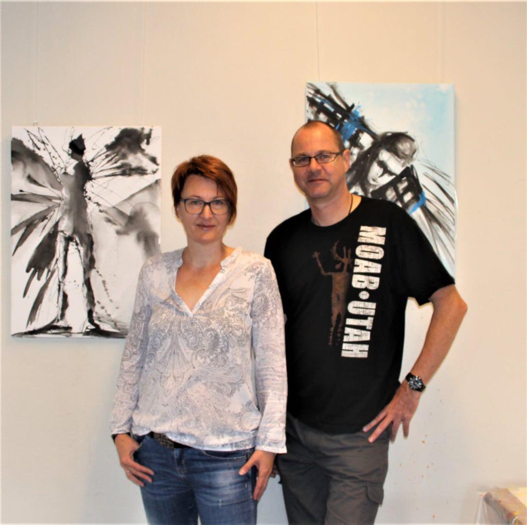 Die Künstler Anne Schwabe und Hinrich JW Schüler.