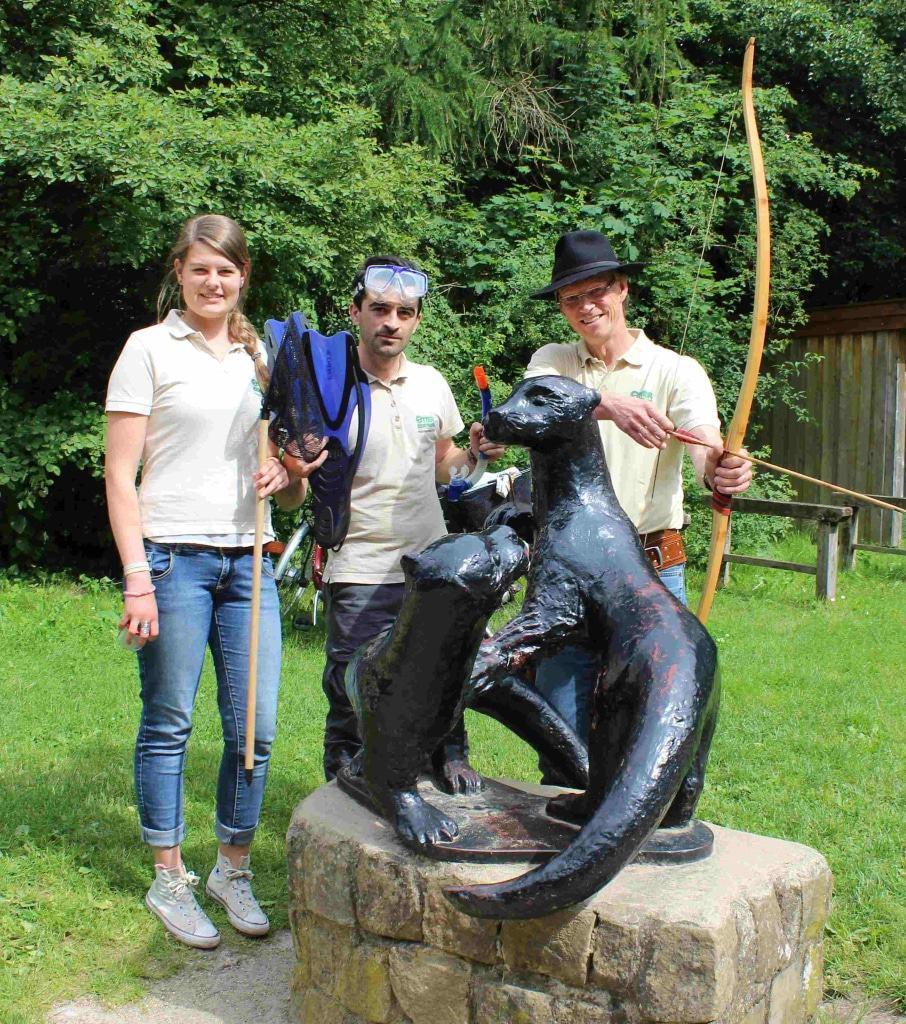 Tolles Ferienprogramm für Kinder in den Sommerferien 2017 im OTTER-ZENTRUm © Aktion Fischotterschutz e.V.