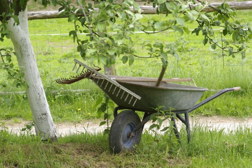 Gartenarbeit im Freilichtmuseum am Kiekeberg Foto: FLMK