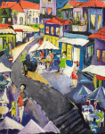 Gemälde von Hajar Issa, Ausstellung im Kloster Ebstorf 2018