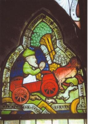 Glasmalerei aus dem Kloster Ebstorf: Himmelfahrt des Elias, Foto: Kloster Ebstorf