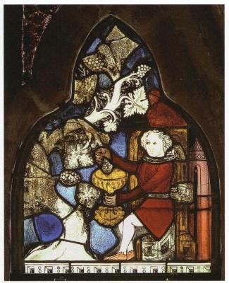 Glasmalerei aus dem 14./15. Jahrhundert aus dem Kloster Ebstorf: Der Traum des Mundschenken, Foto: Kloster Ebstorf