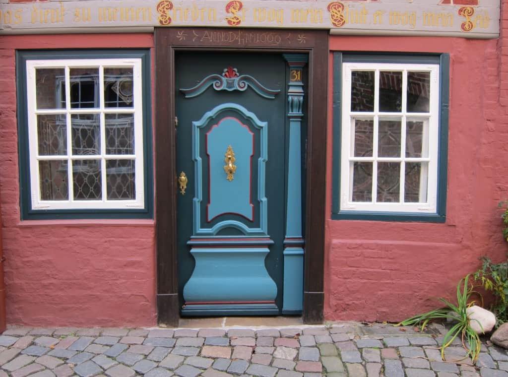 Schöner Hauseingang in der Lüneburger Altstadt