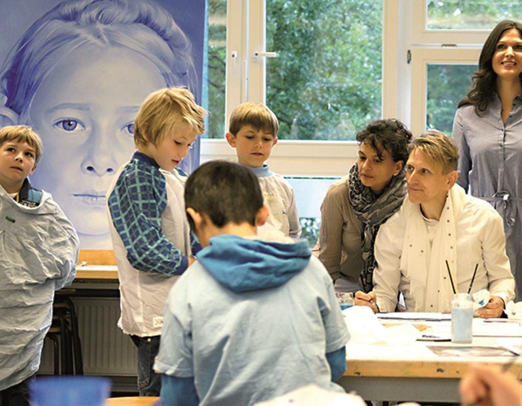 """Der Buxtehuder Künstler Frank Rosenzweig präsentiert sein globales Kunstprojekt """"Many Children– One World"""" bei der HeideKultour 2017"""