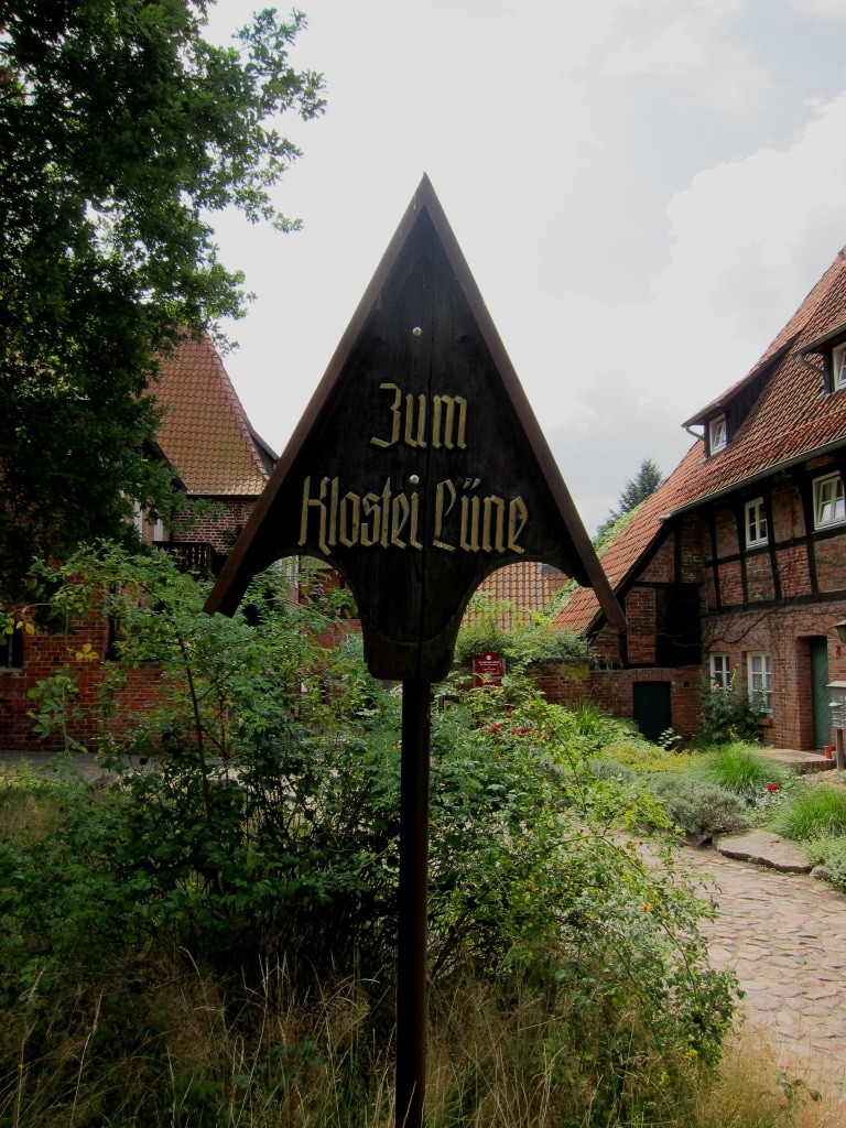 Hinweisschild Kloster Lüne, Lüneburg