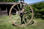 Historisches Rad in der Museumsstellmacherei Langenrehm Bild: FLMK