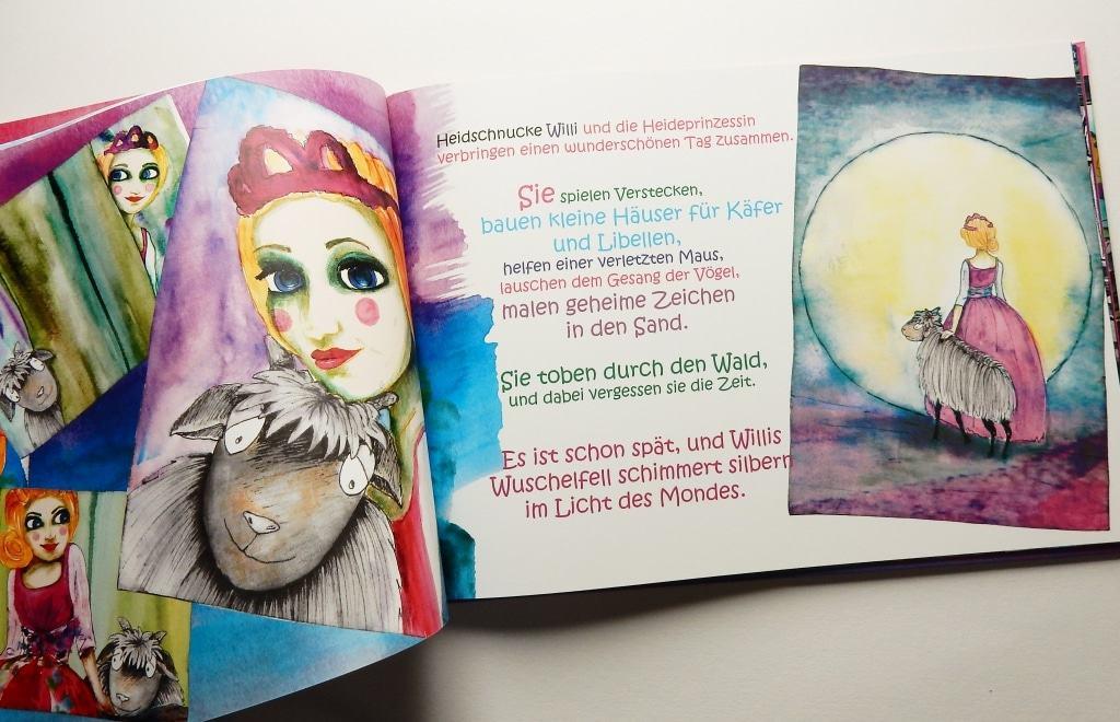 """Inhaltsseiten von """"Heidschnucke Willi und die Heideprinzessin von Christine Wilkens ISBN 978-3000542367"""