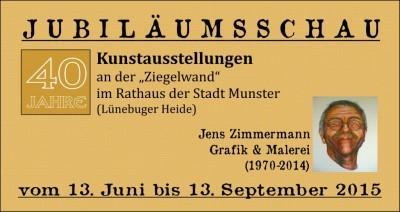 Werbebanner 40 Jahre Kunstausstellungen Rathausgalerie Munster 2015