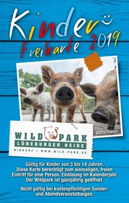 Kinderfreikarte 2019 Wildpark Lüneburger Heide