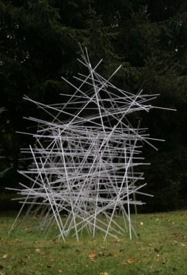 Glasplastik und Garten Munster 2016: Fragila von Katharina Kleinfeld