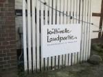 """Hinweisschild """"Kulturelle Landpartie®"""""""
