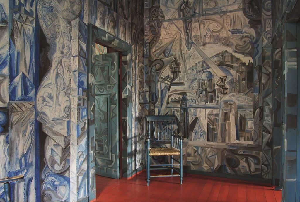 Flur im Wohn- und Atelierhaus, Foto: Ulrich Deimel, Essen für AD Architectural Digest