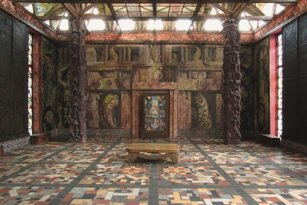 Johann Bossard, Zweiter Tempelzyklus bei geschlossenen Türen, Foto: Petra Diehl, Hamburg