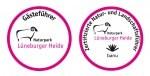 Die neuen Logos für Gästeführer und zertifizierte Natur- und Landschaftsführer. Quelle: Naturpark Lüneburger Heide.