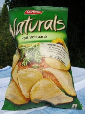 Kartoffelchips aus Hankensbüttel ohne künstliche Aromen und Konservierungstoffe - Naturals mit Rosmarin
