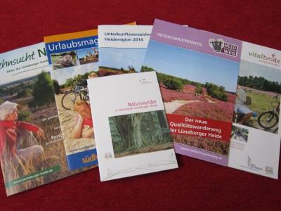 Gastgeberverzeichnisse, Prospekte und Flyer für Ihren Urlaub in der Lüneburger Heide
