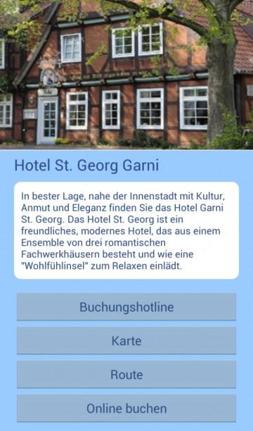 Darstellung von Unterkünften in der  Lüneburger-Heide-App