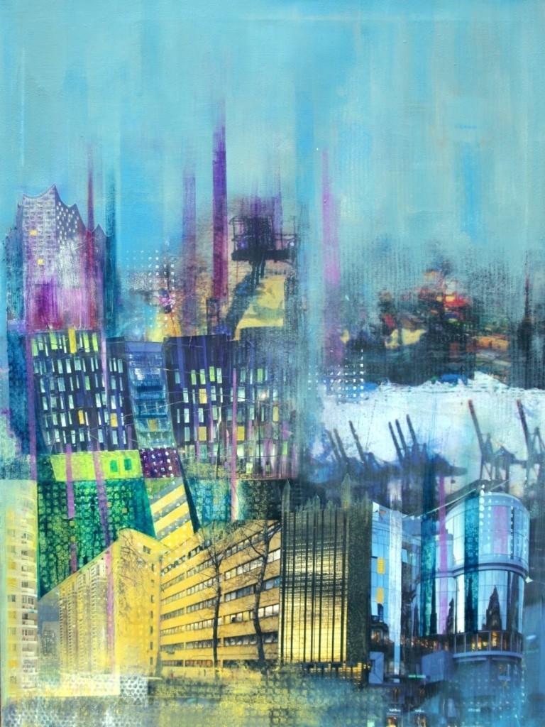 """""""Metropole"""" Gemälde von Hanna Malzahn"""
