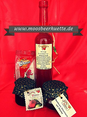 Cranberry-Produkte/Moosbeeren-Produkte der Moosbeerhütte von Familie Dierking in Gilten-Nienhagen im Aller-Leine-Tal