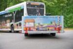 Naturparkbus mit Niederflur-Fahrradanhänger Foto: Naturpark Lüneburger Heide