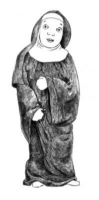 Nonne Hilda aus dem Buch: Hilda: Vom Leben einer Nonne im Mittelalter
