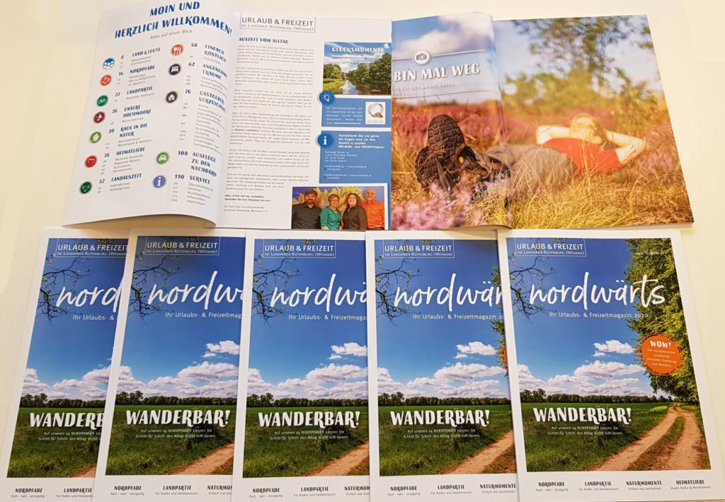 Das neue URLAUBs & FREIZEITmagazin nordwärts 2020 für den Landkreis Rotenburg (Wümme) © TouROW