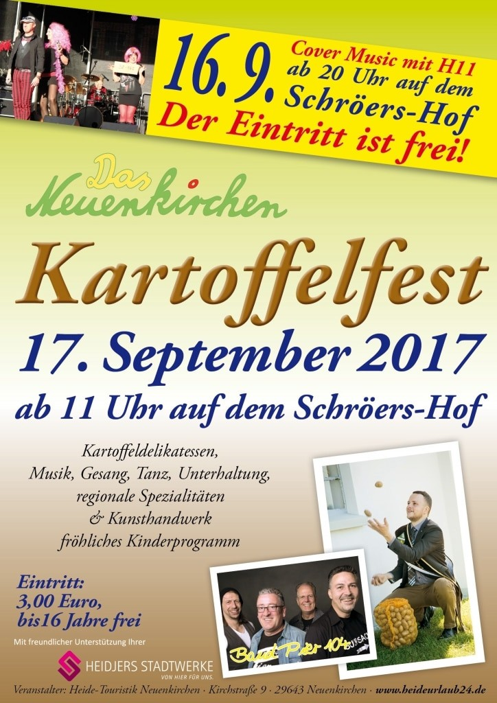 Plakat Kartoffelfest Neuenkirchen 2017