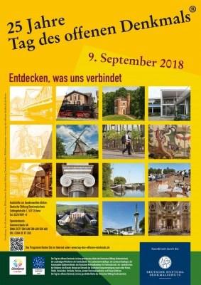 Plakat zum Tag des offenen Denkmals 2018, © Deutsche Stiftung Denkmalschutz, Bonn