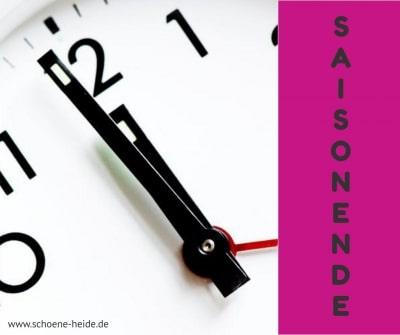 Saisonende der Attraktionen in der Lüneburger Heide www.schoene-heide.de