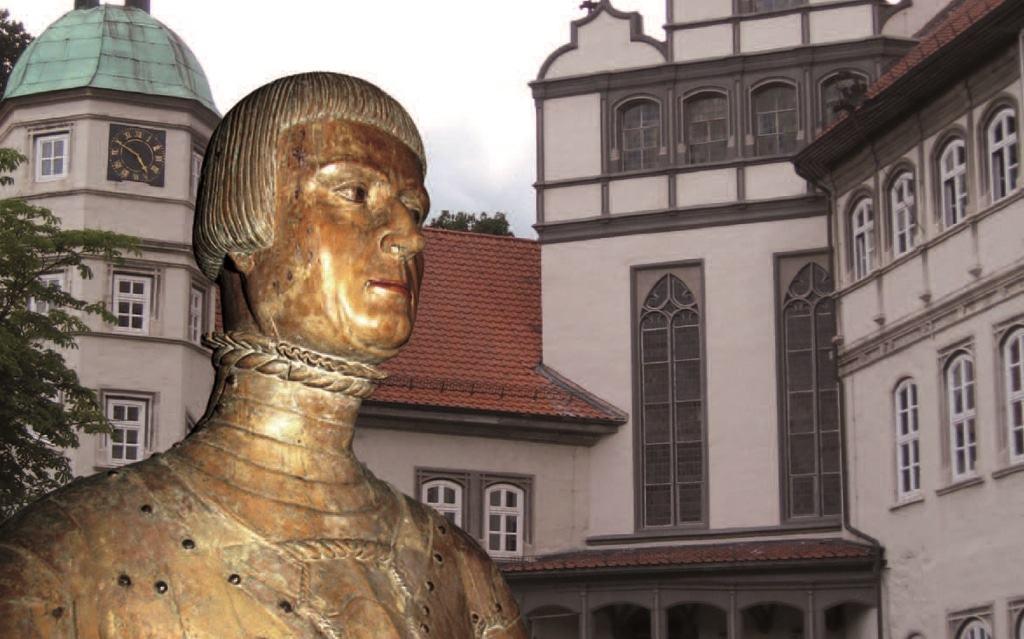 Büste von Herzog Franz zu Gifhorn (1508–1549) vor Schloss Gifhorn Foto: Südheide Gifhorn GmbH