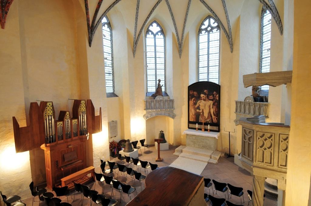 Schlosskapelle von Schloss Gifhorn, erbaut 1547– einer der ersten Sakralbauten in Norddeutschland, der eigens für den evangelischen Gottesdienst errichtet wurde. Foto: Südheide Gifhorn GmbH
