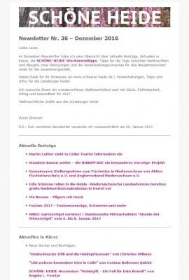 Abonnieren Sie den kostenlosen SCHÖNE-HEIDE-Newsletter und erhalten Sie jeden Monat aktuelle Infos und Veranstaltungs- und Freizeittipps für die Lüneburger Heide!