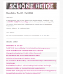 Screenshot des SCHÖNE-HEIDE-Newsletter Nr. 29 - Mai 2016