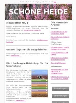 SCHÖNE-HEIDE-Newsletter Nr. 1