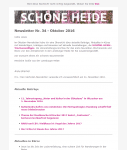 Screenshot SCHÖNE-HEIDE-Newsletter Nr. 34 - Oktober 2016