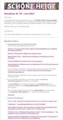 SCHÖNE-HEIDE-Newsletter Nr. 42 Juni 2017 - Screenshot (Auszug)