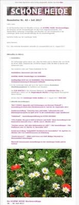 Screenshot - Auszug SCHÖNE-HEIDE-Newsletter Nr. 43 - Juli 2017