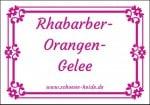 Kostenlose Etiketten für Rhabarber-Orangen-Gelee für Sie bereitgestellt von SCHÖNE-HEIDE