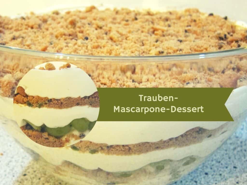 sch ne heide rezept trauben mascarpone dessert schoene. Black Bedroom Furniture Sets. Home Design Ideas